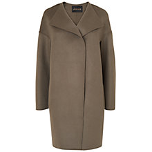 Buy Jaeger Double Face Cocoon Coat, Mid Grey Online at johnlewis.com