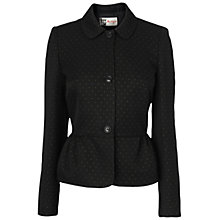 Buy Jaeger Mini Lurex Spot Jacket, Black Online at johnlewis.com