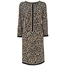 Buy Jaeger Silk Cheetah Dress, Camel Online at johnlewis.com