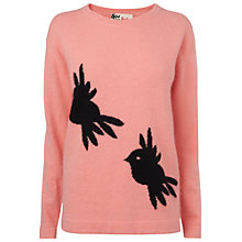 Buy Boutique by Jaeger Bird Intarsia Sweater, Peach Online at johnlewis.com