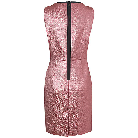 Buy Jaeger London Metallic Dress, Dark Pink Online at johnlewis.com