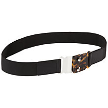 Buy Jaeger Resin & Metal Belt, Black Online at johnlewis.com