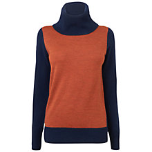 Buy Jaeger Colour Block Jumper, Dark Gold Online at johnlewis.com
