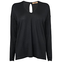 Buy Jaeger Oversized Jumper, Black Online at johnlewis.com