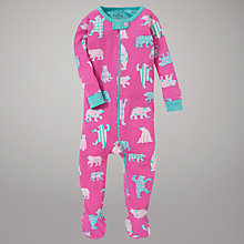 Buy Hatley Bear Sleepsuit, Pink Online at johnlewis.com