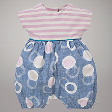 Buy Kin by John Lewis Stripes and Floating Eggs Romper, Navy Online at johnlewis.com