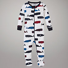 Buy Hatley Whales Sleepsuit, Whales Online at johnlewis.com