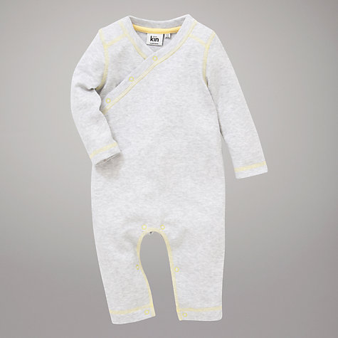Buy Kin by John Lewis Baby Marl & Flecks All-in-One, Grey Online at johnlewis.com