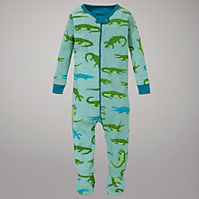 Buy Hatley Crocodile Footed Sleepsuit, Green Online at johnlewis.com