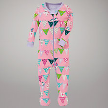 Buy Hatley Bunting Sleepsuit, Pink Online at johnlewis.com