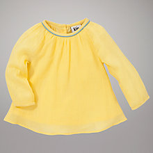 Buy Kin by John Lewis Girls' A Line Tunic Top, Yellow Online at johnlewis.com