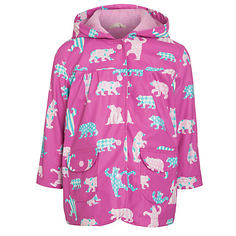 Buy Hatley Bears Raincoat, Pink Online at johnlewis.com