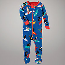Buy Hatley Surfing Dogs Sleepsuit, Blue Online at johnlewis.com