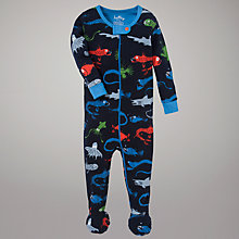 Buy Hatley Sea Creature Footed Sleepsuit, Navy Online at johnlewis.com