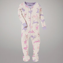 Buy Hatley Rabbit Sleepsuit, Cream Online at johnlewis.com