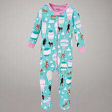 Buy Hatley Dogs and Balloons Sleepsuit, Turquoise Online at johnlewis.com