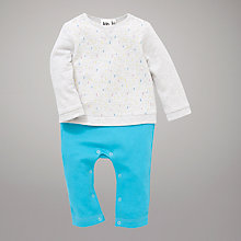 Buy Kin by John Lewis All-in-One Outfit, Blue/Grey Online at johnlewis.com