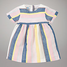 Buy Kin by John Lewis Linen Stripe Dress, Multi Online at johnlewis.com