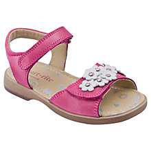 Buy Start-rite Moon Flower Leather Sandals, Pink/White Online at johnlewis.com