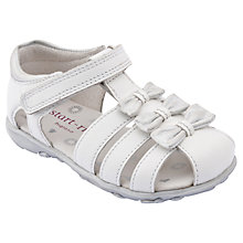 Buy Start-rite Girls' Cassia Leather Sandals, White Online at johnlewis.com