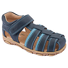 Buy Start-rite Angler Leather Sandals, Navy Online at johnlewis.com