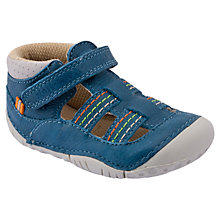 Buy Start-rite Reed Leather Pre-Walker Shoes, Blue Online at johnlewis.com