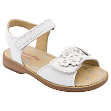 Buy Start-rite Moon Flower Leather Sandals, White Online at johnlewis.com