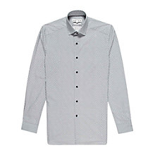 Buy Reiss Nessy Peacock Feather Print Shirt, Blue/White Online at johnlewis.com