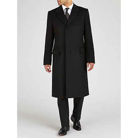 Buy Chester Barrie Savile Row Pure Wool Overcoat, Black Online at johnlewis.com