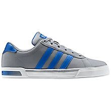 Buy Adidas SE Daily Vulc Trainers, Grey/Blue Online at johnlewis.com