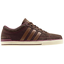 Buy Adidas BB Neo Skool Lo Trainers, Brown/Cream Online at johnlewis.com