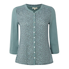 Buy White Stuff Skyline Shirt, Dark Minera Green Online at johnlewis.com