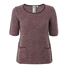 Buy White Stuff Hudson Jumper, Dark Aubergine Online at johnlewis.com