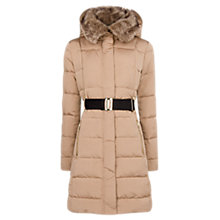 Buy Mango Down Feather Coat, Light Beige Online at johnlewis.com
