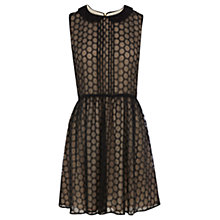 Buy Oasis Spot Skater Dress, Black Online at johnlewis.com