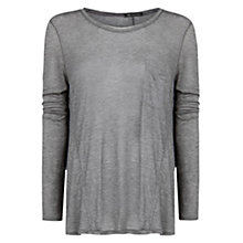 Buy Mango Lightweight T-Shirt, Medium Grey Online at johnlewis.com