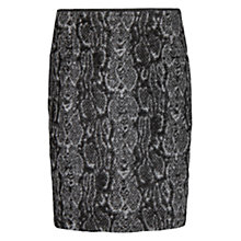 Buy Mango Snakeskin Jacquard Skirt, Black Online at johnlewis.com