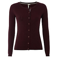 Buy White Stuff Westbourne Cardigan, Dark Aubergine Online at johnlewis.com