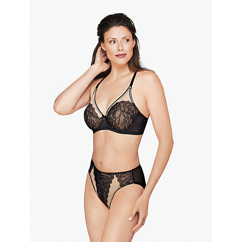 Buy Wacoal Retro Chic High Cut Briefs, Black Online at johnlewis.com