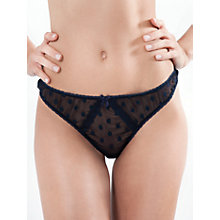 Buy Mimi Holliday Dotty Nuit Bow Thong, Ink Blue / Navy Online at johnlewis.com
