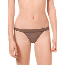 Buy Calvin Klein Icon Underwear Lace Trim Thong Online at johnlewis.com