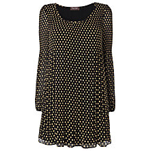 Buy Phase Eight Ella Spot Tunic, Black/Camel Online at johnlewis.com