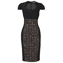 Buy Phase Eight Annaliese Tweed Dress, Black Online at johnlewis.com