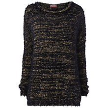 Buy Phase Eight Madisyn Jumper, Black / Gold Online at johnlewis.com