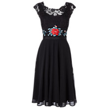Buy Phase Eight Lena Embroidered Dress, Black Online at johnlewis.com