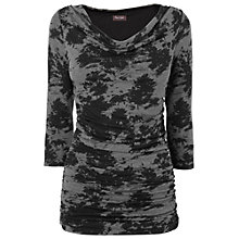 Buy Phase Eight Tallie Toile De Jois Top, Black/Grey Online at johnlewis.com