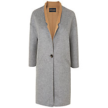 Buy Jaeger Double Faced Mid Coat, Grey Online at johnlewis.com