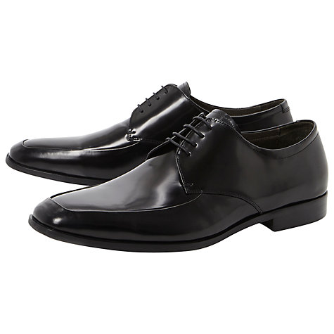 Buy Dune Ancestor Apron Front Leather Derby Shoes, Black Online at johnlewis.com