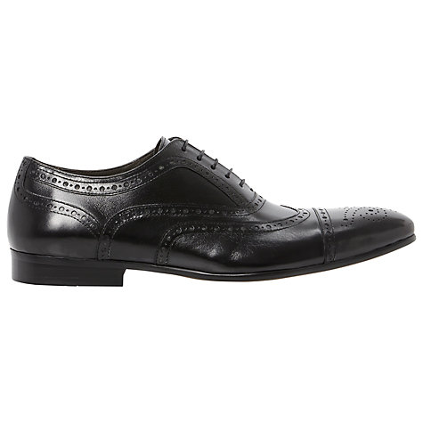 Buy Dune Amore Lea Brogue Leather Oxford Shoes, Black Online at johnlewis.com