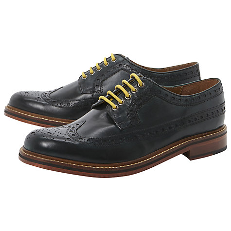 Buy Bertie Braxton Storm 2 Welt Derby Shoes, Green Online at johnlewis.com